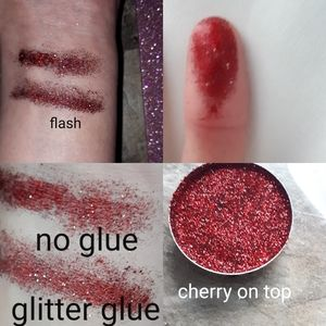 Brand new Pressed glitter cherry on top